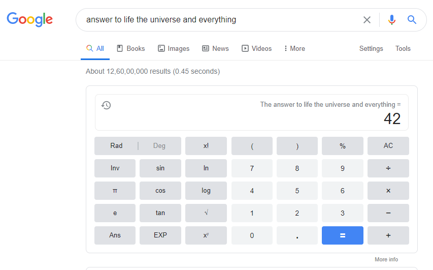 answer to life the universe and everything.
